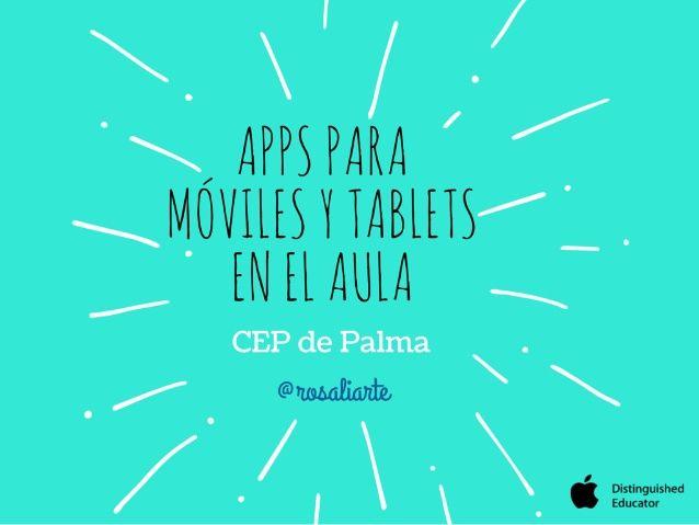 Apps para móviles y tablets en el aula