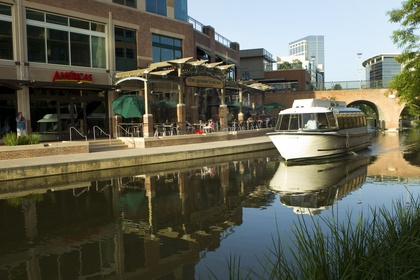 """Woodlands Waterway Taxi near Houston.  Bill surprised me with a proposal in a bottle """"found by the captain in the water""""  The Woodlands is a great planned community."""