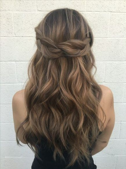 56 Ideas Wedding Hairstyles Half Up Half Down With Flowers Rehearsal Dinners