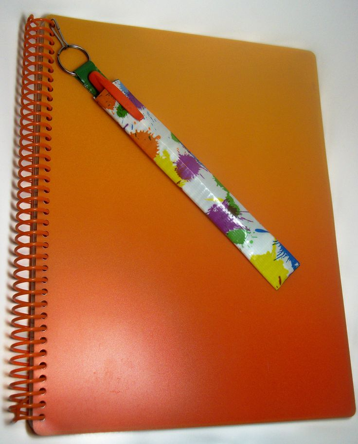 Duct tape pencil case to clip to your notebook.... Where was this idea for high school?