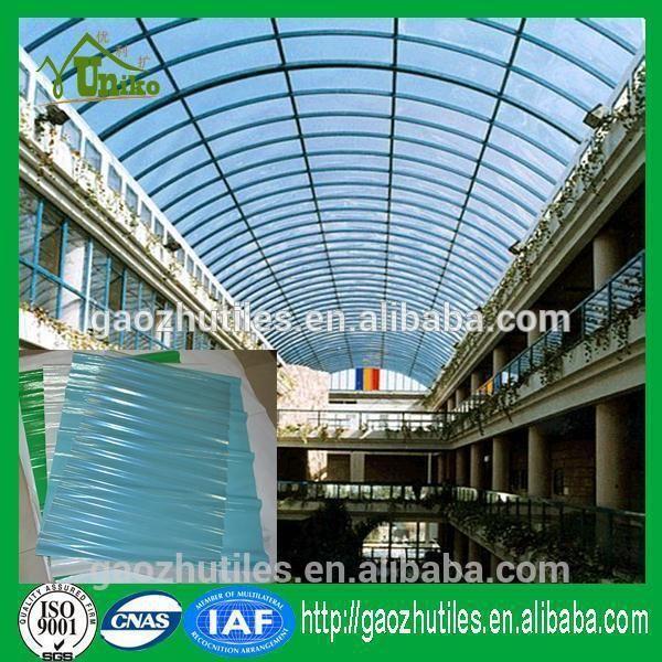 Clear good light transmittance frp decrative tile