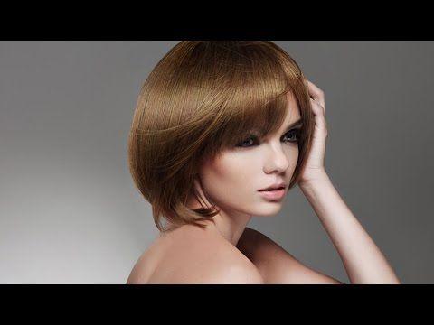 Короткая градуированная женская стрижка в стиле сессун (сессон) - YouTube