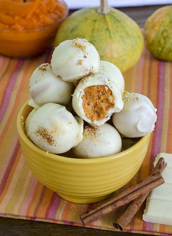 White Chocolate Pumpkin Truffles - OMG Chocolate Desserts