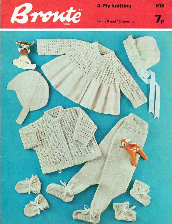 PDF Vintage Adorable Baby Lace Layette Set Knitting Pattern