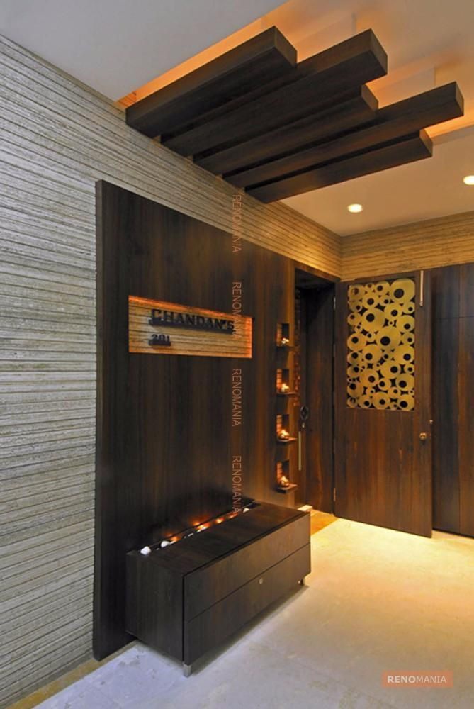 Wooden Wall In Lobby Door Design Entrance Design Front