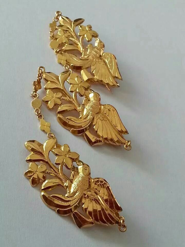 A set of Krosang to pin the front of a Peranakan lady's kebaya...a vital piece of ladies jewellery.