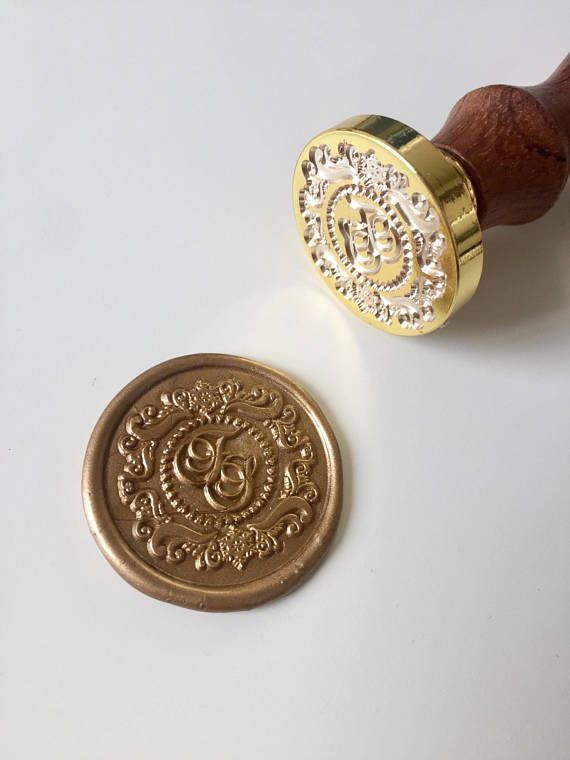 Calligraphy Initials Wedding Wax Seal Stamp In 2018 Seals For Invitations
