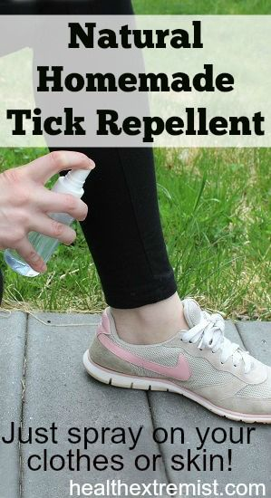 Spray this natural mixture on your clothes, shoes, or skin to keep ticks away! The scent repels the ticks. It's been working great for me so far, haven't seen one tick yet and I live in New England where Lyme disease is very common.