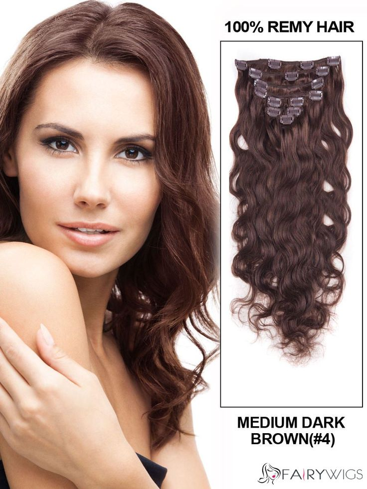 78 best hair extensions images on pinterest human hair 20 inches wavy medium brown clip in remy human hair extensions pmusecretfo Images