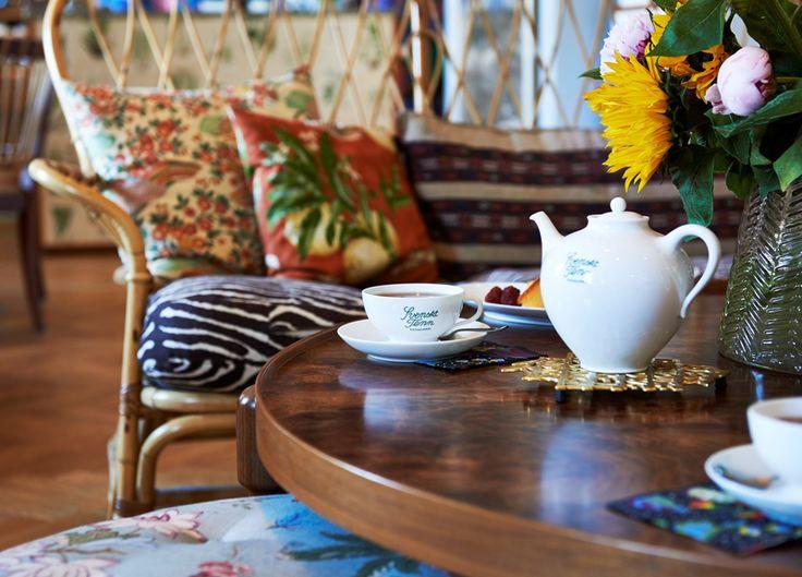 The Tea Room at Svenskt Tenns's store, Strandvägen 5 in Stockholm.
