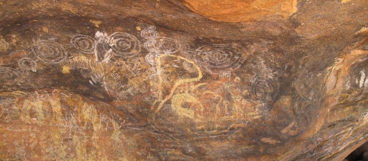 Uluru, painted cave.
