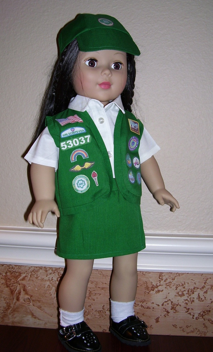Girl Scout Cookie Nail Art: 18 Inch Doll Clothes - Junior Girl Scout Uniform