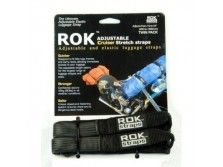 ROK Straps Motorcycle Stretch Straps, Black