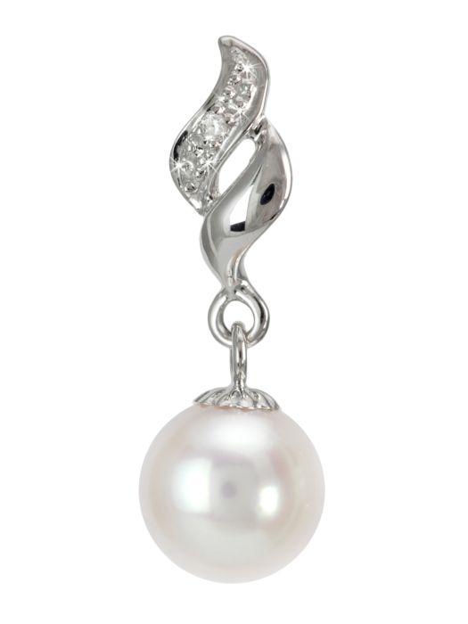 stylowa zawieszka z perłą akoya  #perła #pearl #pearls #perły #biżuteria #jewellery #zawieszka #wisiorek #pendant #diamonds #akoya #diamenty #złoto #gold