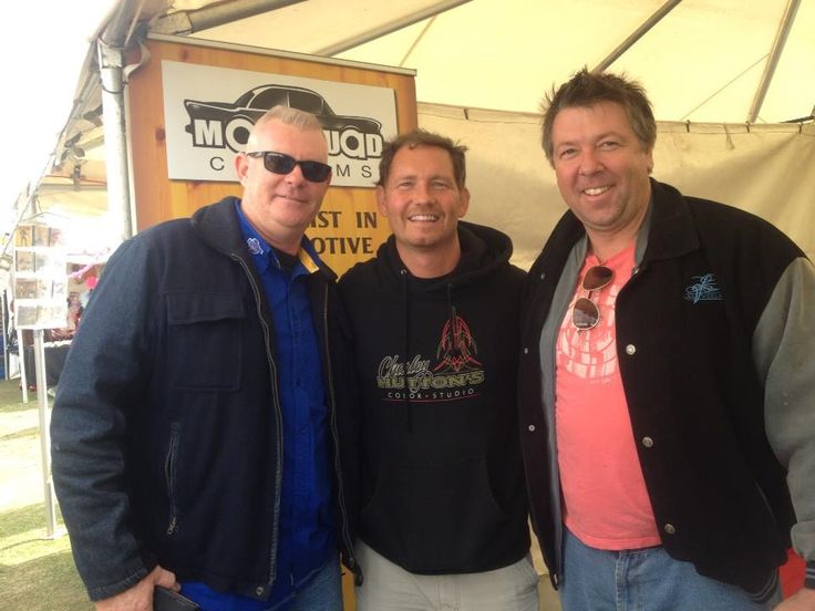 Me with my mate Gary Milne and Charlie Hutton from American Hot rod TV show at Wintersun on the gold coast