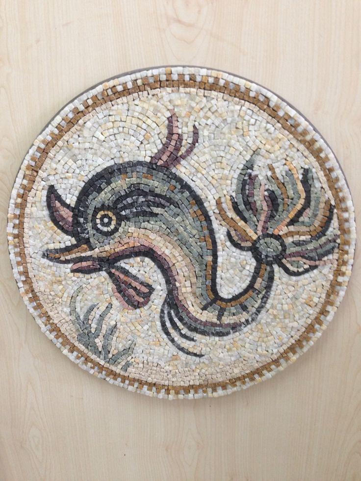 Antique mosaic fish