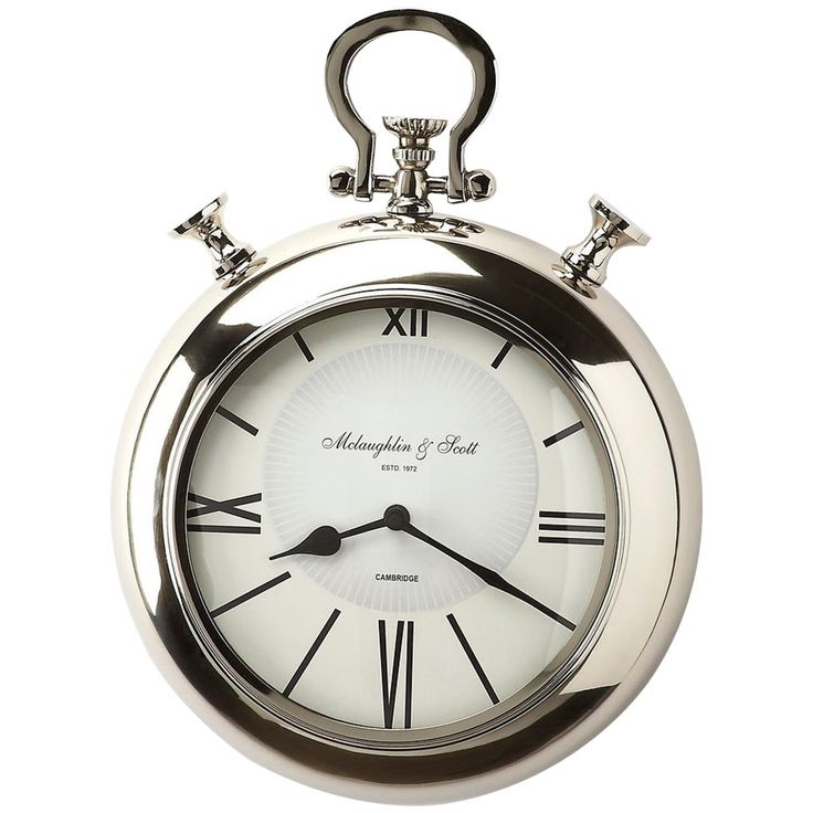 Butler Hors D'Oeuvres Meridian Nickel Finish Wall Clock