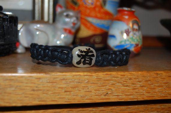 Custom Made Kanji Bracelet  Your Spiritual Message by DragonIkka