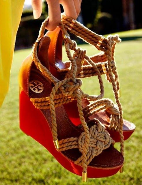 Tory Burch<3: Fashion, Style, Tory Burch, Burch Wedges, Rope Wedges, Toryburch, Summer Wedges, Shoes Shoes, Burch Rope