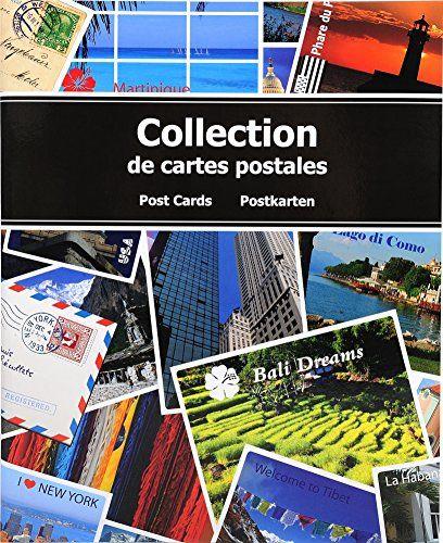 Exacompta 96115E Album de Collection pour 200 Cartes Postales – Bleu 20 x 25,5 cm: Album de collection pour cartes postales avec couverture…