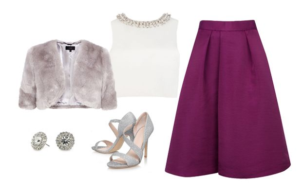 5 Fab Autumn/Winter Looks with Separates | Pink Midi Skirt & Embellished Top |  weddingsonline