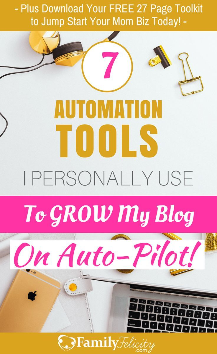 Running a successful blog can be super time consuming! And most of that time is spend doing administrative tasks instead of actually creating awesome content for your readers. In this post I share my favorite automation tools I use to grow by blog on auto-pilot so you can too!