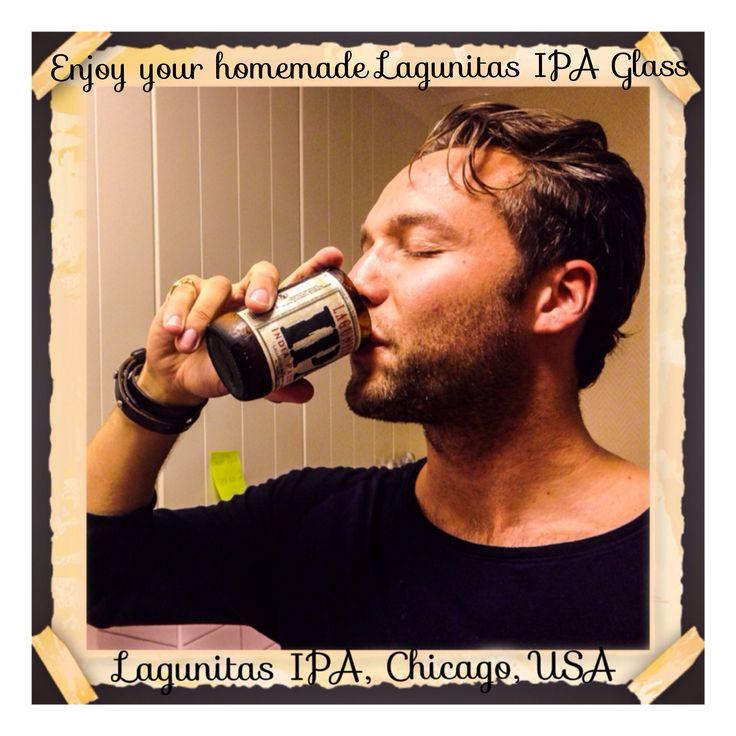 Homemade IPA-glass made of #lagunitasipa by #tactiqteam! #utmaning #pyssel