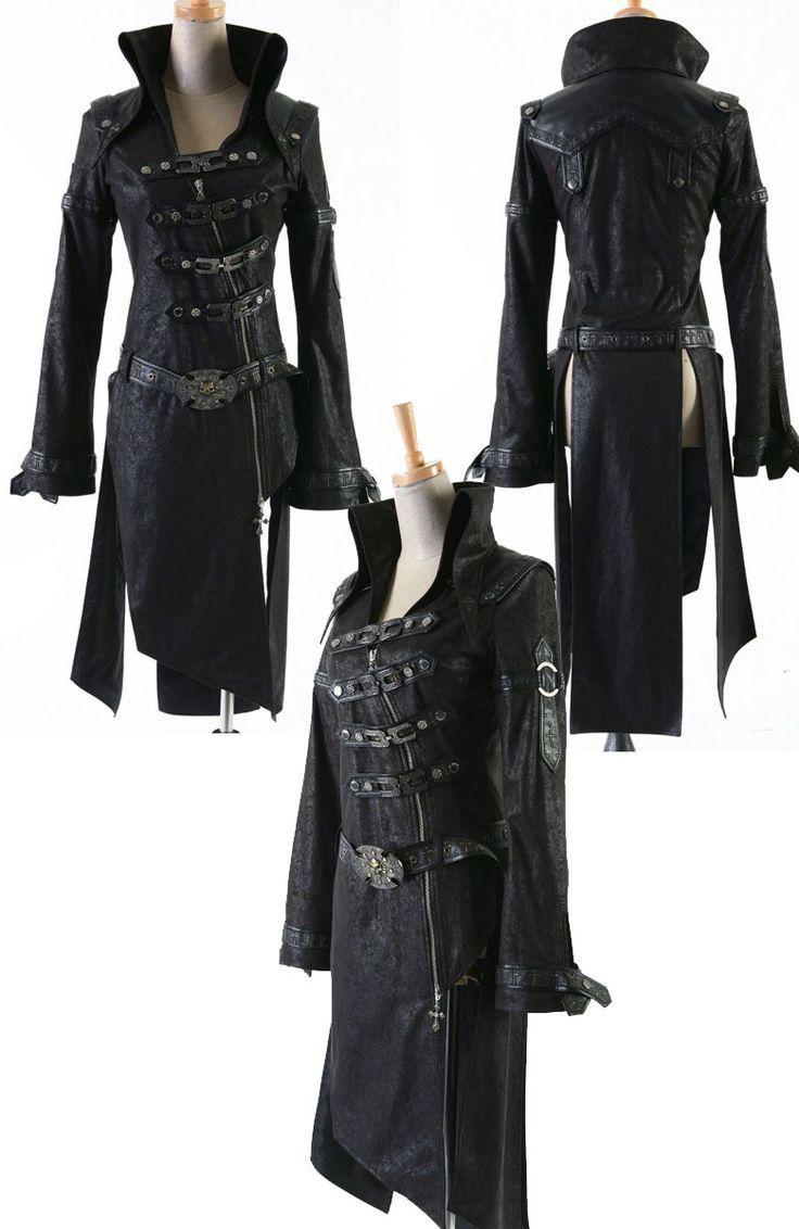 【楽天市場】中世の騎士のようなファンタジー風ロングコート†ゴシックパンク†Gothic Punk OC261 †ロック†ヴィジュアル†衣装†服†V系†ゴシック†ファッション†ゴスロリ†【7-Nov】【10-Nov】:Nightmare Vivid