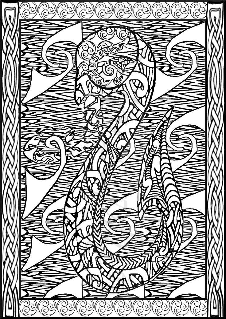 Te Manaia; Maori guardian  Maori/Celtic designs;Lousephyr©2015