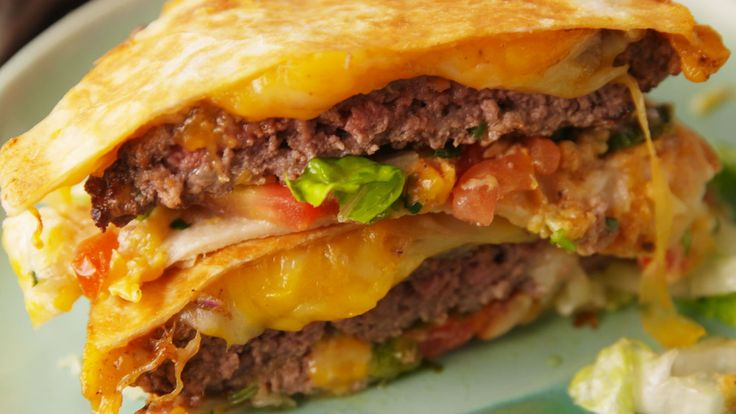 This Quesadilla Burger Is One Of The Best Food Mashups Of All Time  - Delish.com