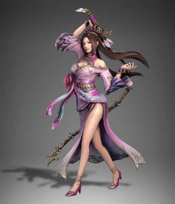 Diaochan - Dynasty Warriors 9 - More Voluptuous than ever with her new clothing.