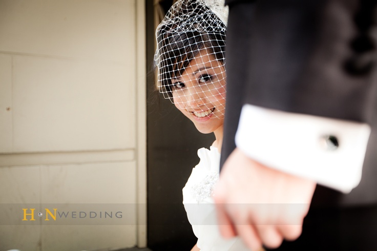 #Birdcage #Veil #HNWedding #Vancouver #weddingday #www.hnwedding.com