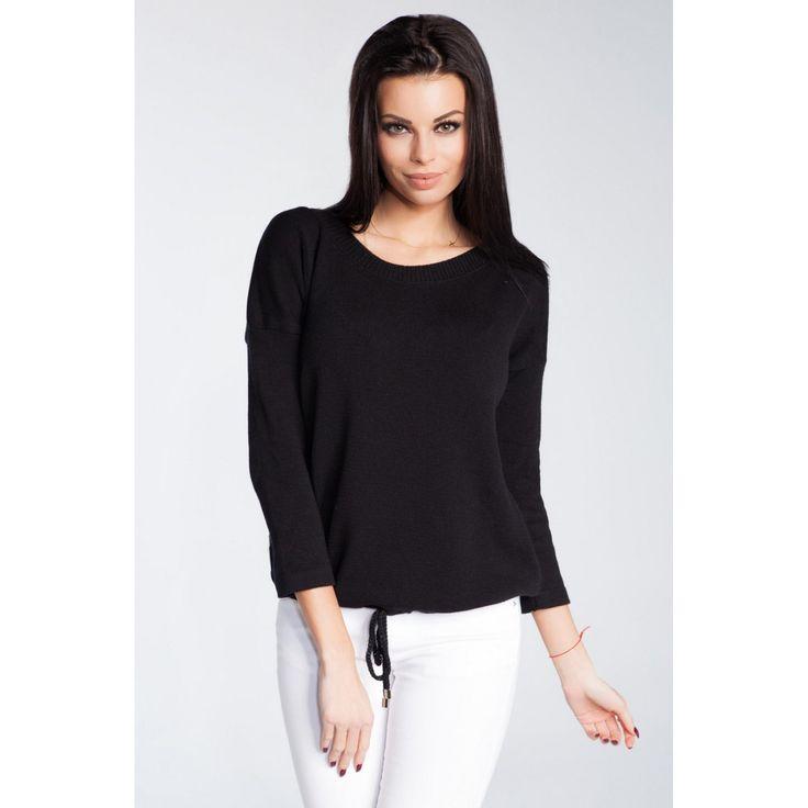 Bluza dama tricotata neagra cu maneci lungi   #bluzetricotatedama