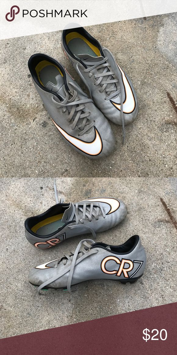 """Boy Nike Soccer shoes size 3.5Y Cristiano Ronaldo """"CR7."""" Used condition but good for more uses. Nike Shoes"""