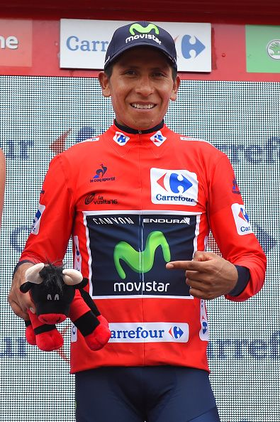 71st Tour of Spain 2016 / Stage 10 Podium / Nairo QUINTANA Red Leader Jersey…