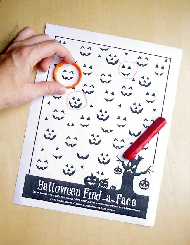 free preschool printable halloween games worksheet from lalymomcom great for practicing circles and - Fun Halloween Games For Toddlers