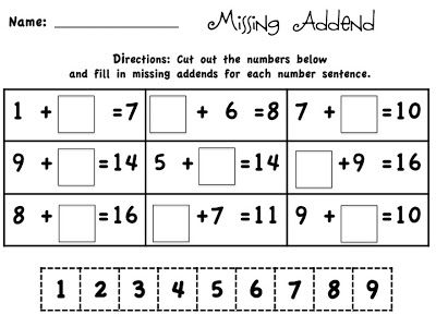 Common Worksheets » Cut And Paste Numbers - Preschool and ...