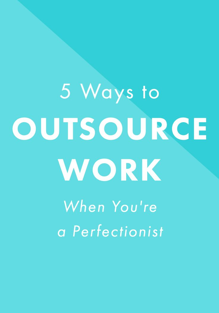 5 Ways to Outsource Work When You're a Perfectionist. It can be SO hard to hire people to help with your business, but it's helped me and my business so much. If your perfectionism is making you worry, these tips will definitely help.