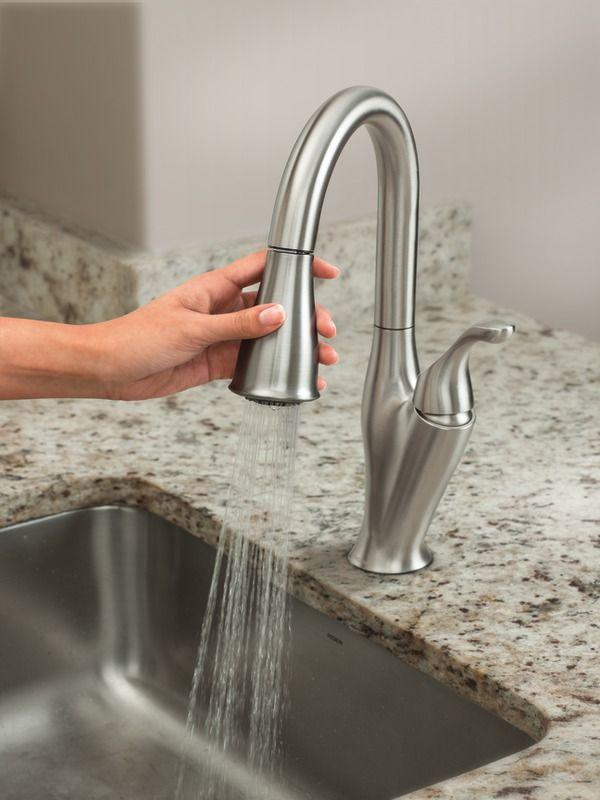 Quality Benton Faucets from Moen : Moen Benton Single Handle Pull Down ~ http://modtopiastudio.com/quality-benton-faucets-from-moen/