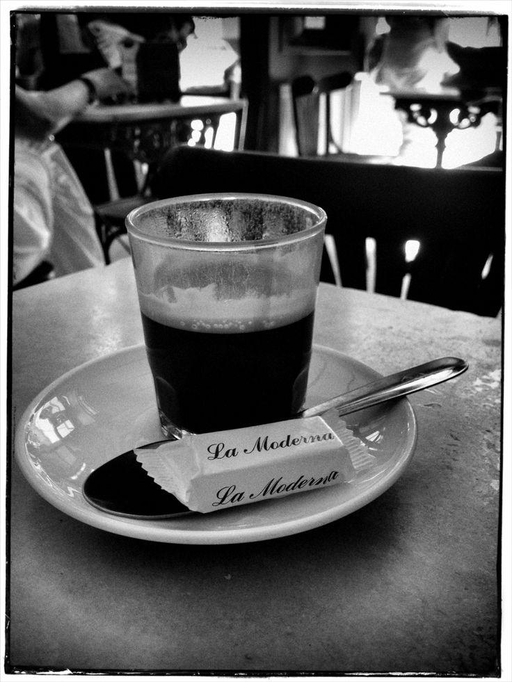 Cafe solo in Cafe 'La Moderna' Jerez.