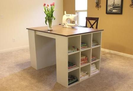 Craft and sewing table. If guys get a man cave, shouldn't I get a lady nook? making-a-house-a-home