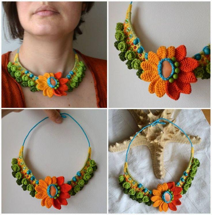 Irish crochet &: Украшения от Marmotescu