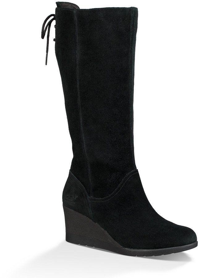 6cd3e678ecd5d UGG Dawna Tall Waterproof Suede Wedge Boots