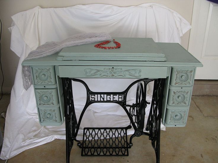 Singer Treadle Sewing Machine Cabinet Gets A Makeover In