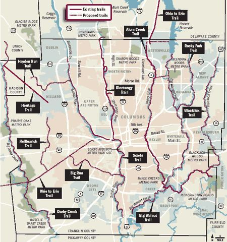 Bike Trails In Ohio Map.Columbus Bike Trails Bike Path Ohio In 2019 Bike Trails Trail Bike