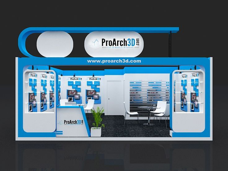 Exhibition Stall 3d Model 6 Mtr X 6 Mtr 1 Side Open