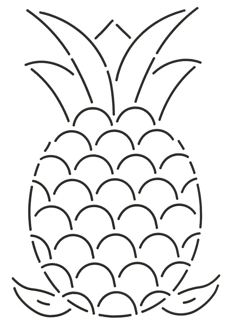 It's just a photo of Unusual Pineapple Stencil Printable