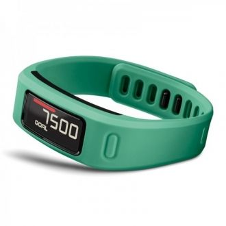 Opaska fitness Garmin vivofit porusza się w rytm Twojego życia  poznaje twój poziom aktywności i wyznacza spersonalizowany dzienny cel wyświetla kroki, kalorie, dystans i monitoruje sen możliwość sparowania z czujnikiem tętna w przypadku aktywności fitness czas działania baterii to ponad 1 rok; urządzenie jest wodoszczelne (do głębokości 50 m) zapisywanie, planowanie i udostępnianie postępów w serwisie Garmin Connect(TM)