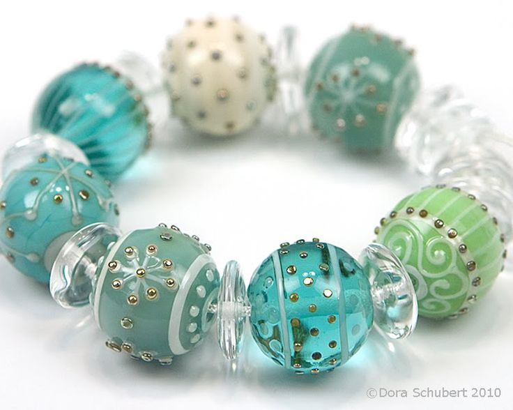 Steph:  Remember glass beads don't always have to be donut shaped!!!  Round is super pretty.