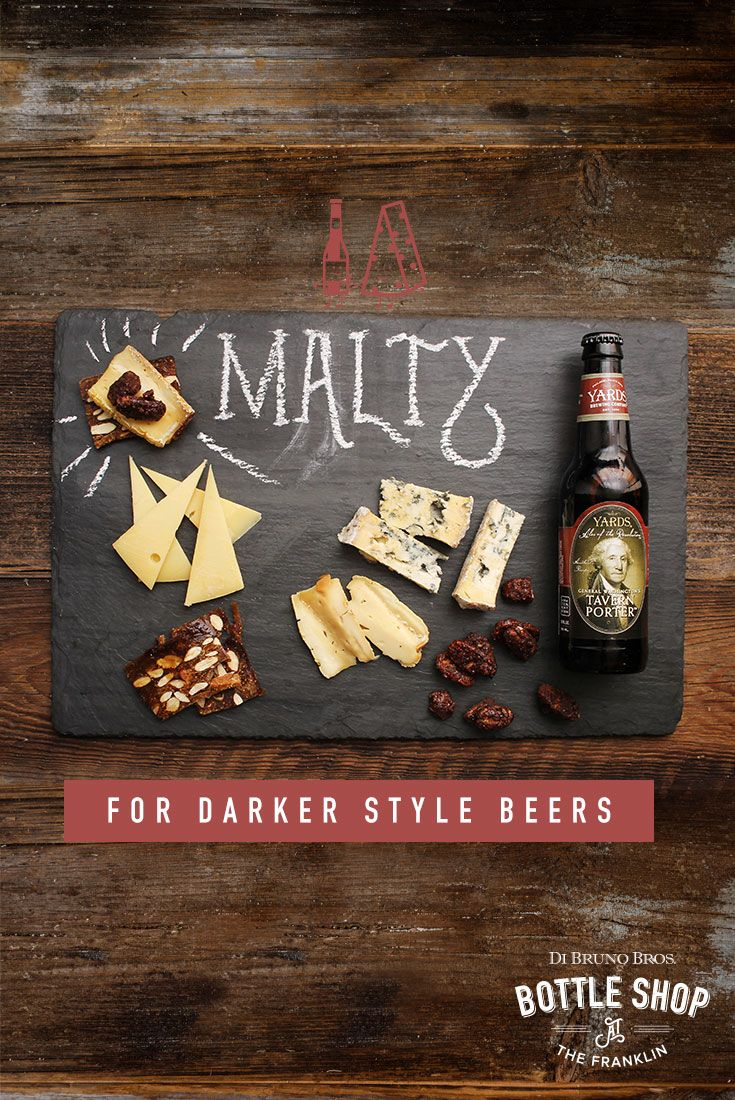 Cheese and accompaniments for darker style beers.